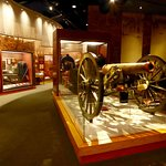 Artifacts and information fills an extensive Civil War Museum in the visitors' center.