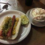 Coal Tower Restaurant - my hot dog & cole slaw