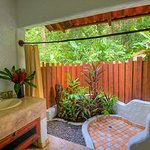 Open air bathrooms in all our suites