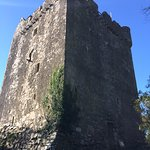 Moy Castle on our walk to Laggan Sands - Boarded up
