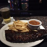 BBQ ribs at the bar of Charleston's. Yum!