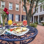 Enjoy a delicious, made-to-order, breakfast in our courtyard!