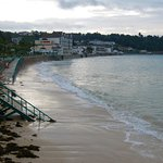 Early morning high tide at St. Brelade's Bay