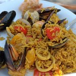 Paella at the barefoot grill