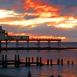 The pier at sunset