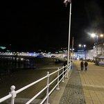 The promenade at night.