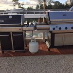 gas grills on the dock