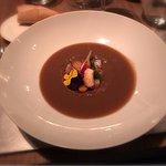 Migas and lentil soup
