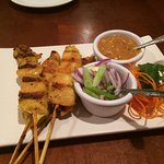 Chicken satay - good but a bit on the chewy side