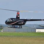 Notre hélicoptère vue de profil