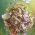 Très bonnes salades et belle vue ...