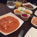 Chicken tikka masala and paneer rogan josh all tasty