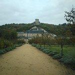 château vu du potager