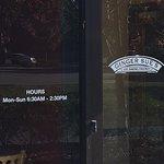 hours & entrance door