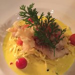One of the specials. Sablefish with Tagliatele