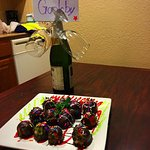 Chocolate Covered Strawberries & Cider. Family Birthday Toast Thanks Aly! =)