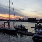 Harbor sunset from upper level