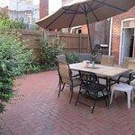 one of the garden patios