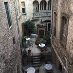 the beautiful interior courtyard from the balcony on the second floor