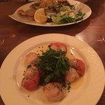 Scallops and Sea Bass