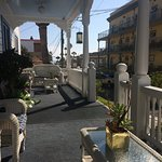 charming veranda where we played cribbage together and I won:)