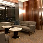 Seating area in Club Lounge.