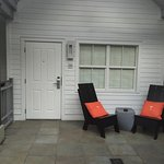 Your own lovely seating area right outside your door beautiful