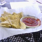 Cactus Flower chips and salsa
