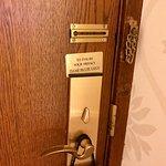 Old door for a new suite.