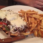 philly cheese steak and fries