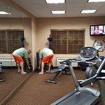 Exercise room: treadmills, adjustable bench, dumbells(5-25lb)