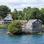 Casa em ilha minuscula