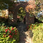The Volunteer Memorial Arch pays tribute to volunteers who care for the garden.
