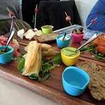 Vibrant and flavorful appetizer platter