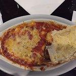 Spaghetti and meatballs and stuffed manicotti