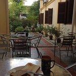 Having breakfast at Verandah