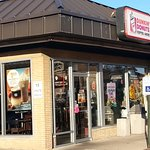 Entrance to Dunkin Donuts