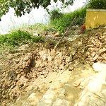 Clay along the river bank