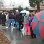 One annivesary has them lined up around the block, in the rain.