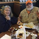 We appreciate the Monday military retiree discount with our food.