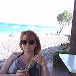 hotelowa restauracja, praktycznie na plaży.