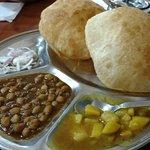 Puri, chana and khatta meetha aloo