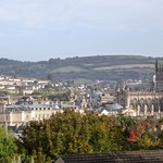 View over Bath from the garden