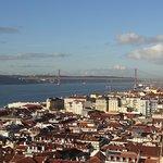 Views of Lisbon city from Castelo de Sao Jorge
