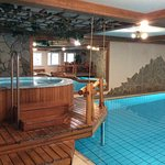 The spa area had many anemities, including steam room, sauna, hot tub, and pool. Many places to