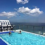 Rooftop pool and room 613