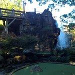 Beautiful Mini Golf with Waterfall