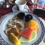 Brekfast Pancakes & Fruit