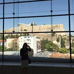 view of actual Acropolis from the Acropolis museum