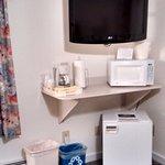 TV, MW, fridge and coffeemaker